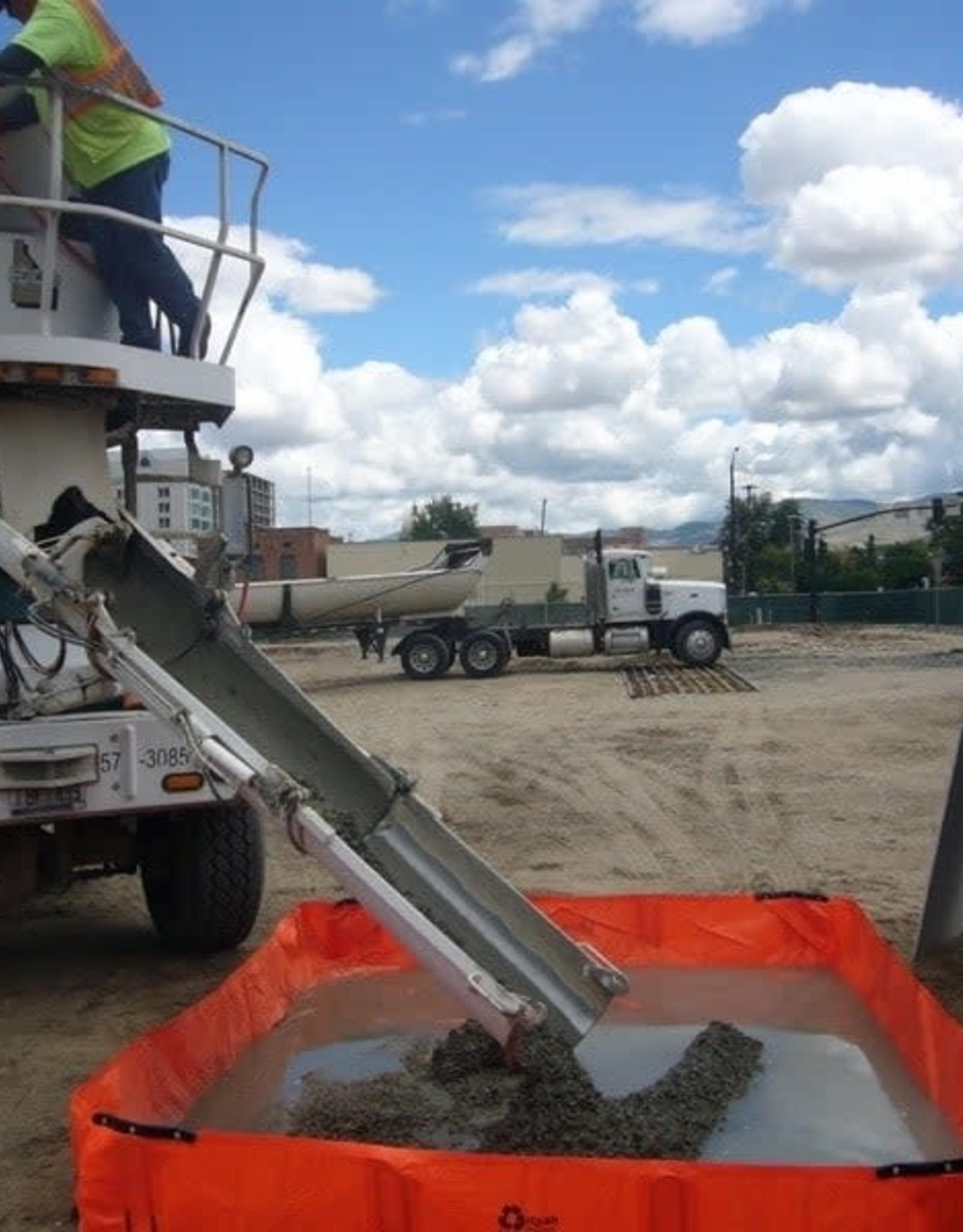 """PVC Concrete Washout, SZ. 8' x 10' x 12"""" H"""
