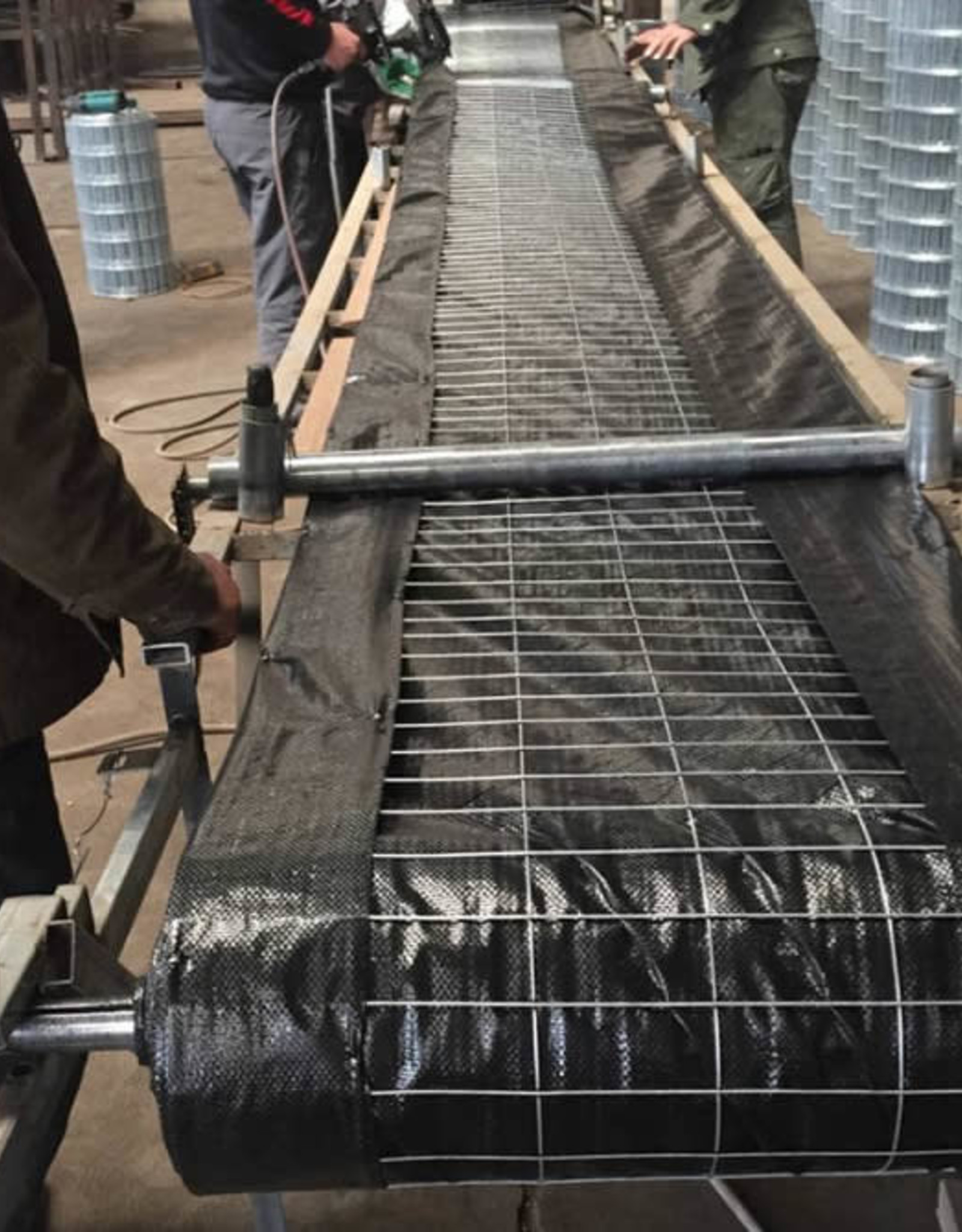 Wire Backed Silt Fence - Non Woven 12.5 gauge  (2x4) - TXDOT