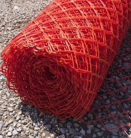 Diamond Mesh Fence, Orange, Heavy Duty 28 lbs., SZ. 4' x 100'