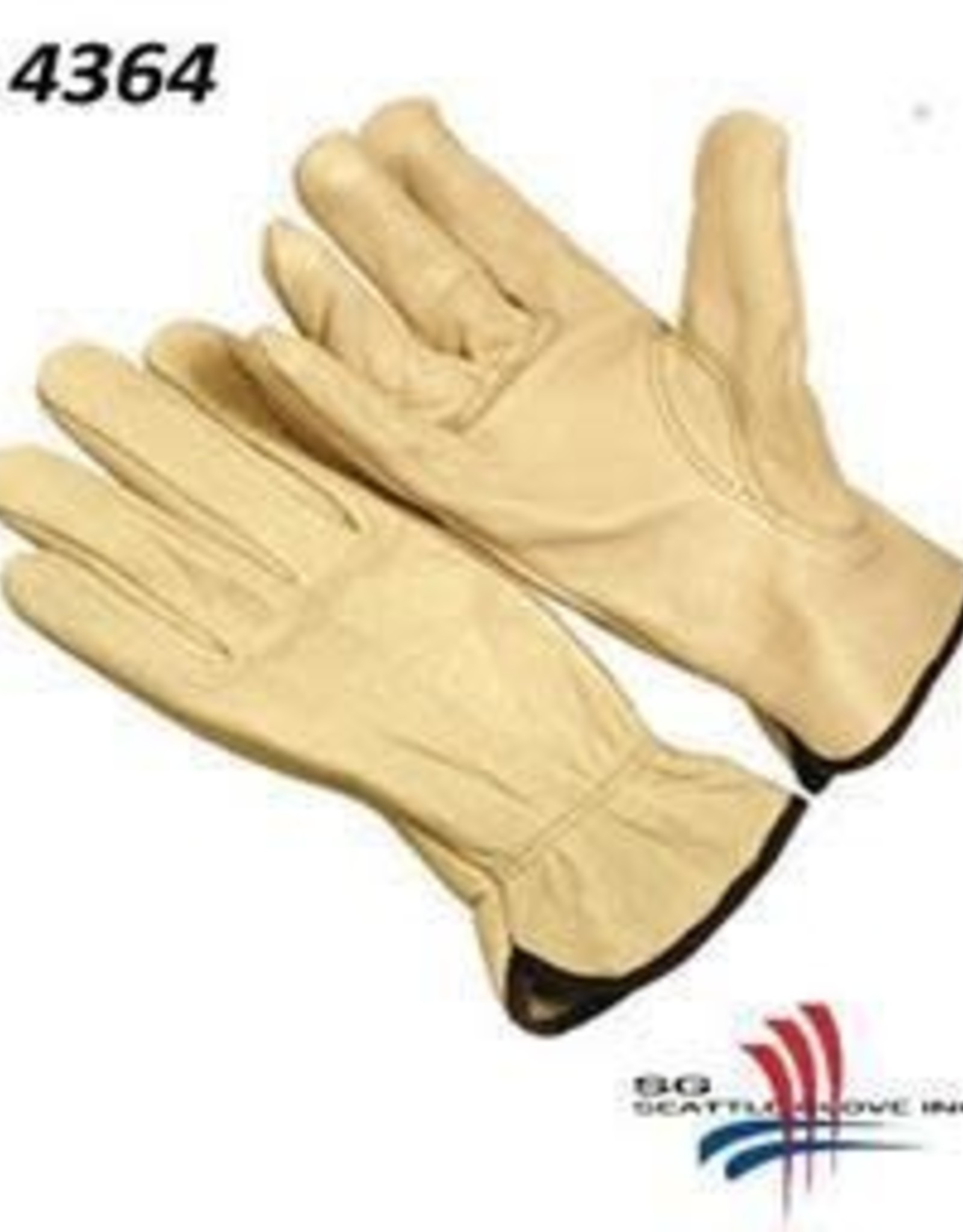 Seattle Cowhide Leather Driver Gloves Small, Per Dozen