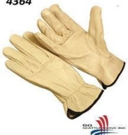 Seattle Cowhide Leather Driver Gloves XL, Per Dozen