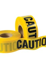 "Caution Tape, Yellow,  2 Mil, 3"" Wide x 1000 Ft., 12 pack"
