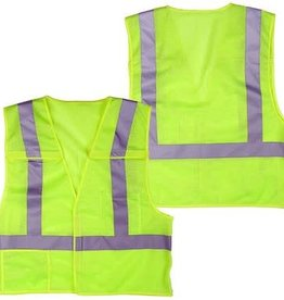 Safety Vest, Lime Point Break Away, Class II, Various Sizes