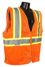 Seattle Safety Vest - Orange Mesh Class II, Reflective Tape, Various Sizes
