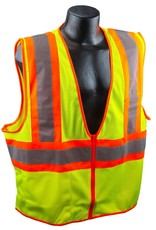 Safety Vest, Yellow Mesh Class II, Reflective Tape, Various Sizes