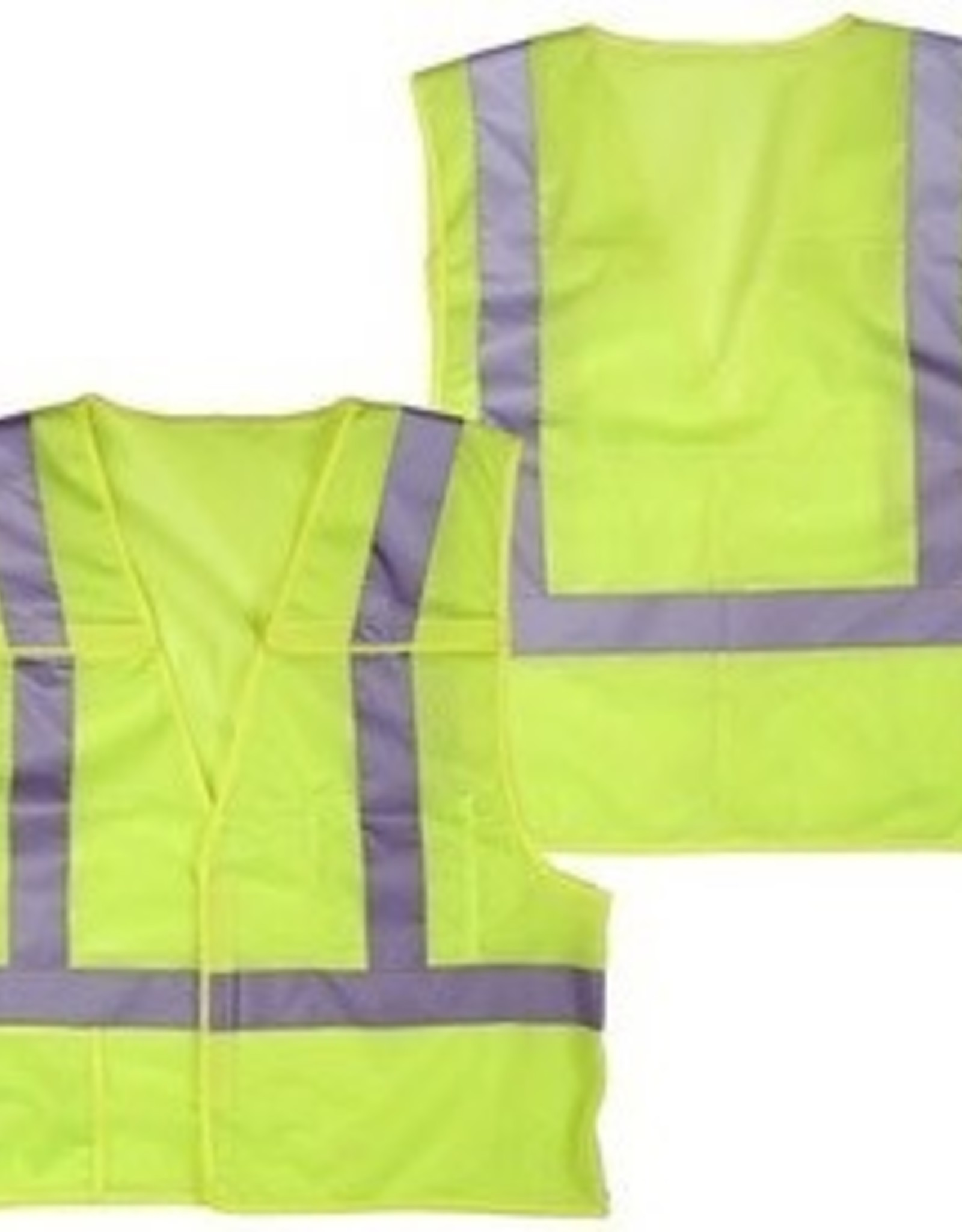 Case of 50 - Safety Vests, Lime Point Break Away, Class II, SZ. M - 4XL