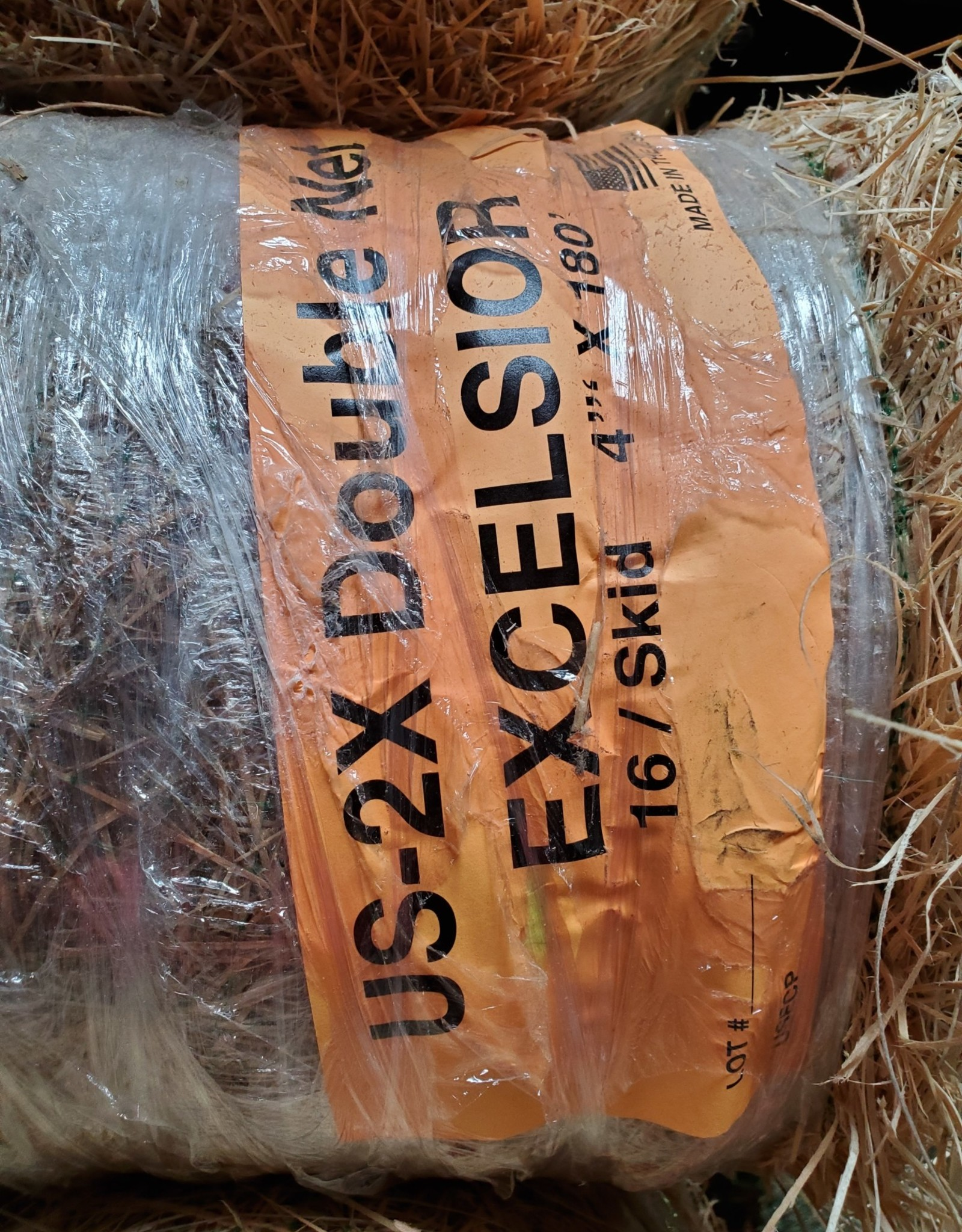 Erosion Blanket - US-2X Double Net American Excelsior Natural, SZ. 4' x 180'