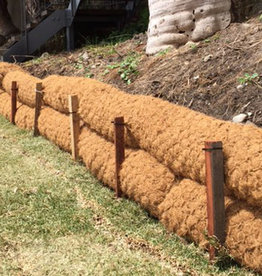 "Coconut Coir Log With Natural Net, SZ. 9"" x 10'"
