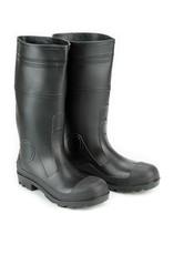 Seattle PVC Black Rubber Waterproof Steel Toe Boots
