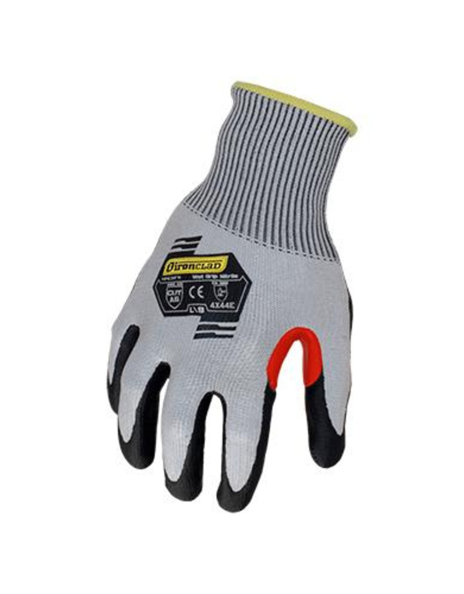 Ironclad Cut Resistant Coated Gloves, A6 Cut Level, Nitrile, SZ. L