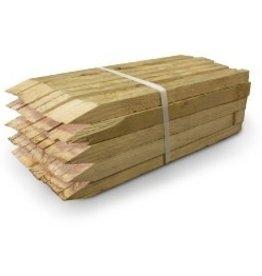 """Wattle Stakes, SZ. 1"""" x 1.5"""" x 18"""" - 50 per bundle hard wood"""