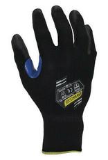 Foam Nitrile Coated Gloves, Palm Coverage, Black/Blue , SZ. XL