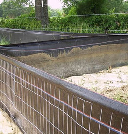 """Wire Back Silt Fence, 12.5 gauge,  2"""" x 4"""" mesh attached to 36"""", 100 gr. fabric, 100' length"""