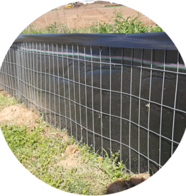 Wire Backed Silt Fence, Nonwoven, 14  gauge,  (2x4)