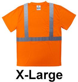 Reflective Safety T-Shirt, SZ XL