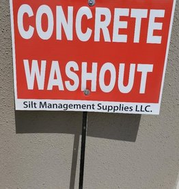 Concrete Washout Sign, Single Sided