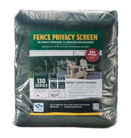 """Privacy Screen - 130 Series, Forest Green SZ. 50' x 6'  (5'-8"""")"""