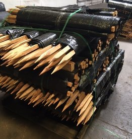 """Silt Fence, 55 Gram w/ (11) 1.5""""  x 1.5"""" x 48"""" pre-attached wood stakes SZ. 100' Length"""