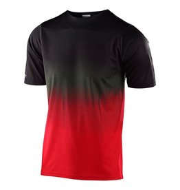 Troy Lee Designs Skyline SS Jersey Stain'd Blk/Red