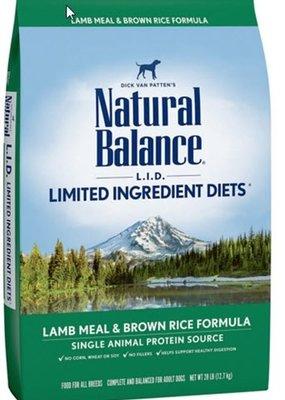 Natural Balance Natural Balance Large Breed Lamb & Rice 28#
