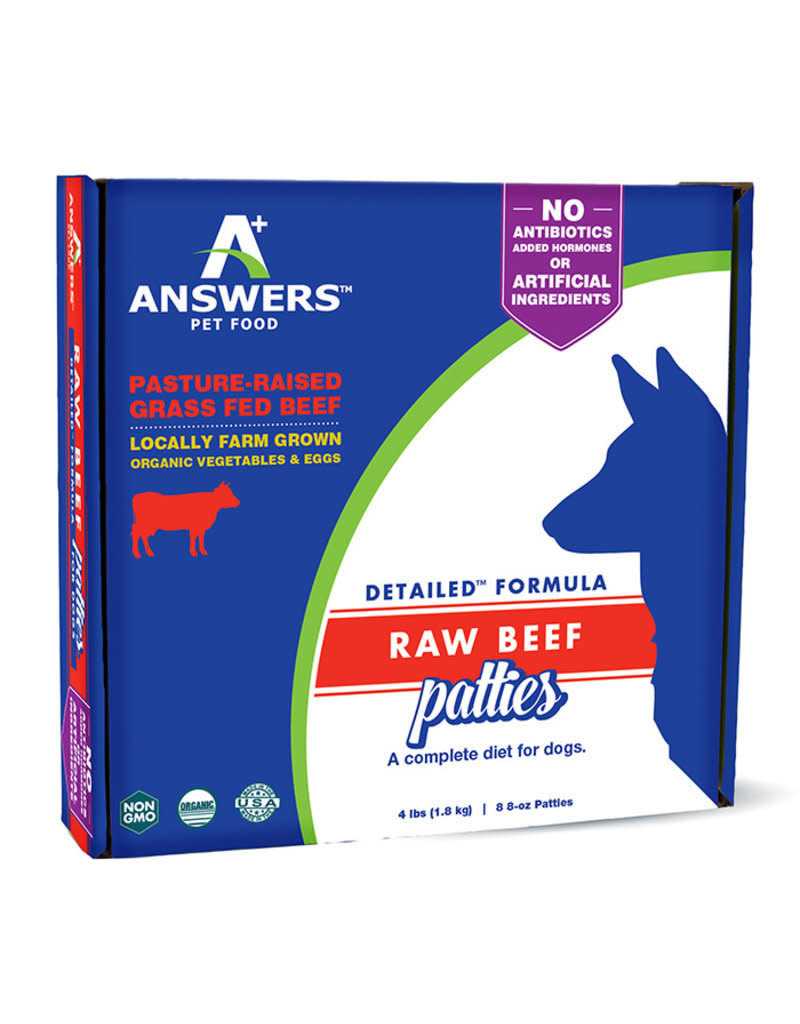 Answers Pet Food Answers Raw Fermented Patties 4#