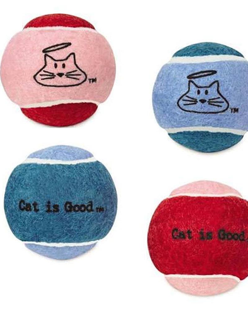 Pet Edge Cat Is Good Mini Jingle Balls