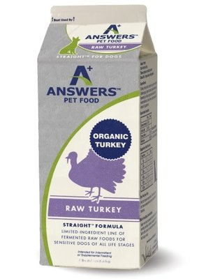 Answers Pet Food Answer's Raw Straight Turkey 4#