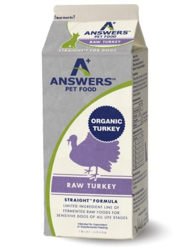 Answers Pet Food Answer's Raw Straight Turkey 4#
