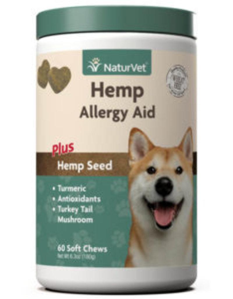 NaturVet NatureVet Hemp Allergy soft Chew 60ct