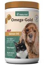 NaturVet NaturVet 180ct Omega Gold Plus Salmon Oil