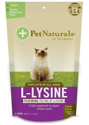 Pet Naturals Pet Naturals 60 Tab L-Lysine Chews Cat