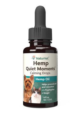 NaturVet NaturVet Hemp Quiet Moments Calming Drops 1oz For Dogs and Cats