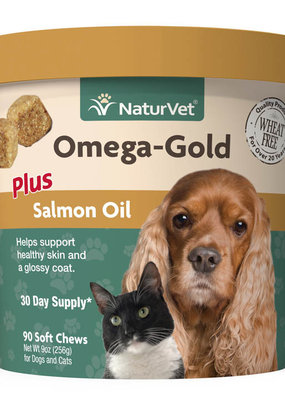 NaturVet NaturVet Omega Gold Plus Soft Chew 90 ct
