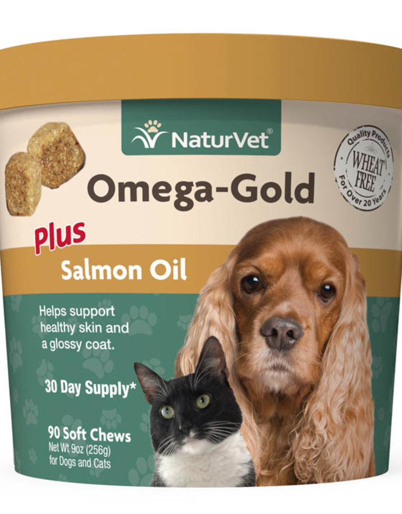 NaturVet NaturVet Omega Gold Plus Soft Chew 90 ct