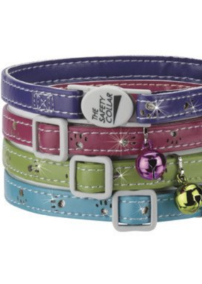 "Pet Edge ST Sparkle Paw Collar Purple 8""-12"""