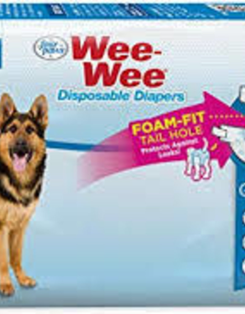 Four Paws Four Paws Wee-Wee Disposable Diapers 12 pk