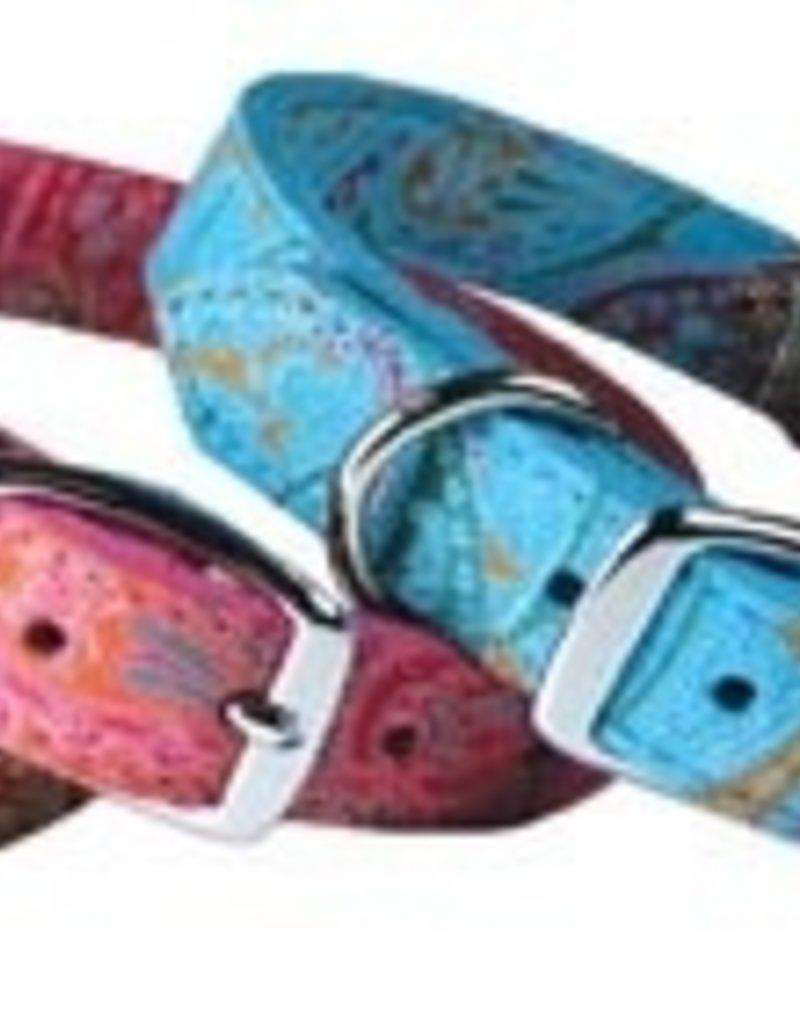 Omni Pet Leather Bro's Paisley Print Collar