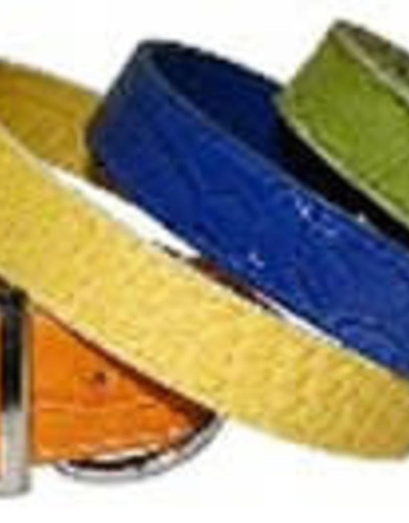 Omni Pet Leather Bro's Crocodile Print Collar