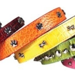 Omni Pet Leather Bro's Metallic Dog Collar