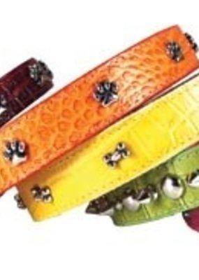 Omni Pet Leather Bro's Metallic Dog Collar