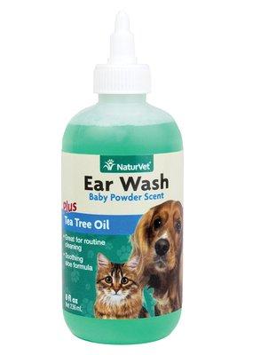 NaturVet NaturVet Ear Wash w/Tea Tree Oil 8oz