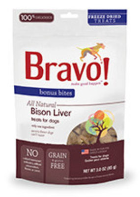 Bravo Bravo Bonus Bites Freeze Dried Dog