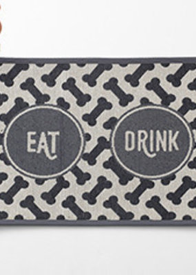Pet Rageous Pet Rageous Eat Drink Tapestry Mat Gray