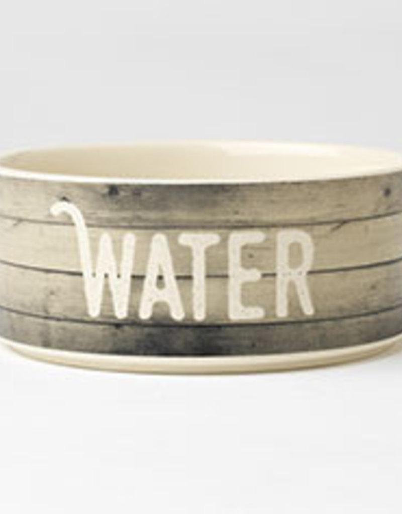 """Pet Rageous Pet Rageous Farm Dog Water Bowl 6"""" Gray"""