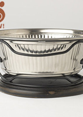 Pet Rageous Pet Rageous Fluted Bowl