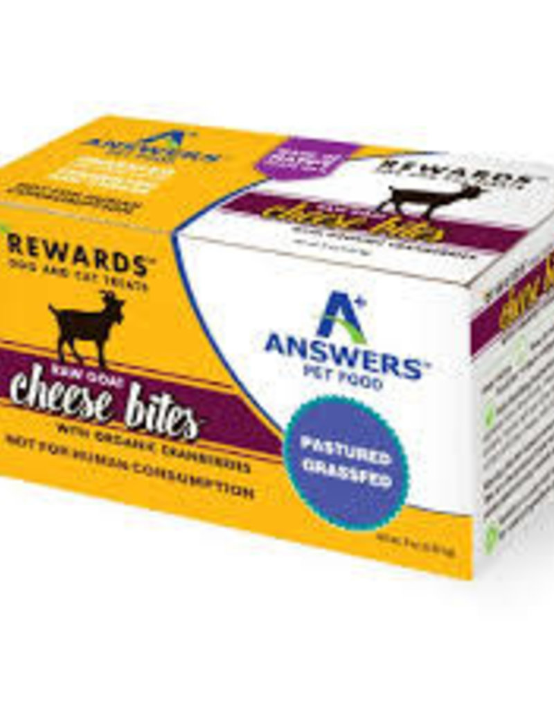 Answers Pet Food Answer's Raw Goat Cheese Bites