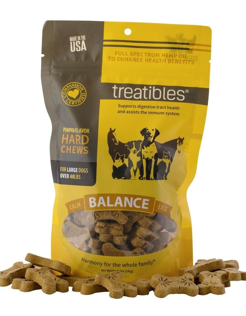 Treatibles Treatibles Small Dog Chews w/ Hemp oil - Pumpkin 75 ct