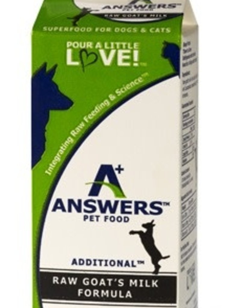 Answers Pet Food Answers Raw Goat Milk Regular Half Gallon