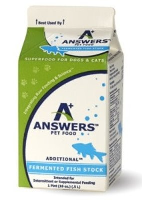 Answers Pet Food Answers Raw Fermented Fish Stock 1 Quart