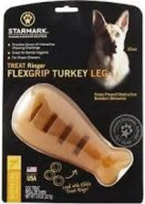 Star Marks StarMark Treat Ringer Flex Grip Turkey Leg